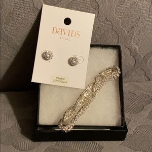 David's Bridal Earrings and Bracelet Bundle